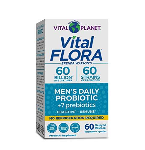 Vital Planet - Vital Flora 60/60 Shelf Stable Men's Probiotic 60 Capsules
