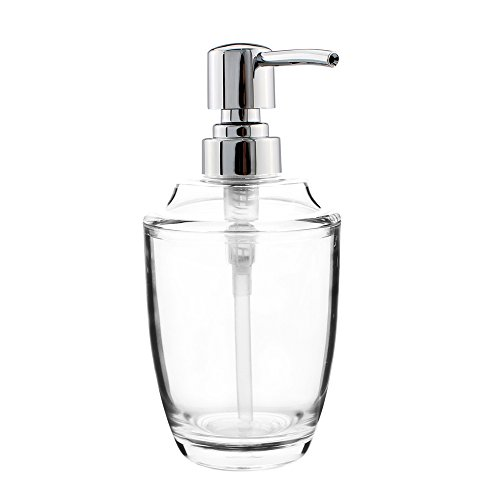 seafulee Soap and Lotion Dispenser Pump, for Kitchen or Bathroom Countertops - Clear/Chrome - 12 OZ...