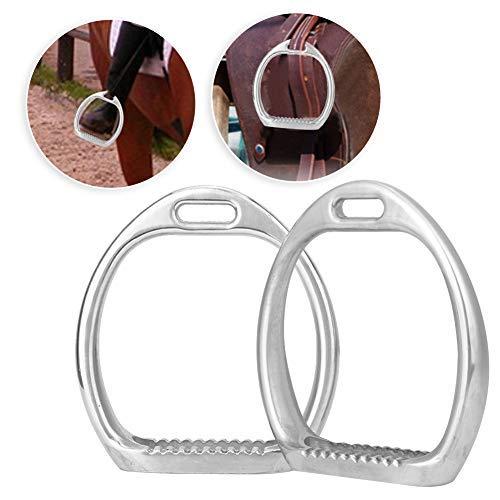 Kinder Premium Steigbügel für Sattel Leichter Sicherheitspferdesattel Englisches Reiten Flex Fillis Handpolierter Steigbügel aus Eisen