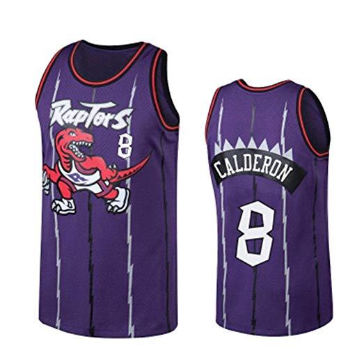 Camiseta Baloncesto Jersey NBA Hombres De José Calderón # 8, Transpirable Resistente Al Desgaste Bordó La Camiseta De La Camiseta + Pantalón Corto, XS-XXL, FHI104IHF (Color : Purple, Size : M)