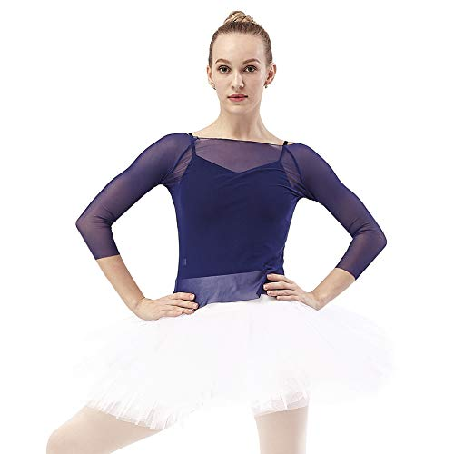 DANCE YOU Profesional Falda Tutu de Ballet para Mujer 7 Capas Short Falda de Tul...