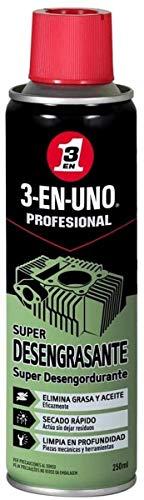 3 EN UNO Profesional 34473 - Super Desengrasante en Spray, Incoloro - 250 ml