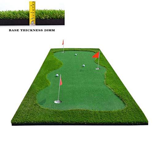 WSHZ Putting Green Set, minigolf Colpire Mat con 3 buche da Golf di addestramento di Pratica Attrezzature aiuti di Gioco e Golf Regali per Gli Uomini Home Office Uso Esterno,3.3ft*9.85ft/1m*3m