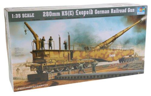 Trumpeter 00207 Modellbausatz Eisenbahngeschütz Leopold 280mm K5 (E)