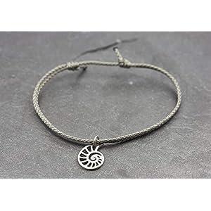 Armband Lotus Yoga Spirale Edelstahl vegan – verstellbar