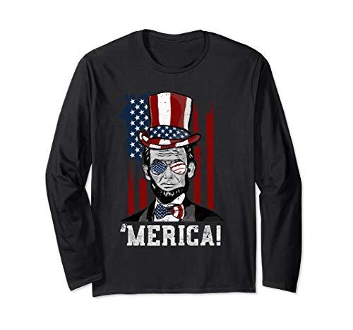 Abraham Lincoln 'Merica - Präsident Lincoln Langarmshirt