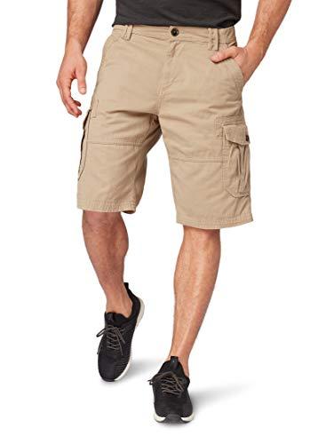 TOM TAILOR Herren Cargo Baumwolle Shorts, Braun (Chinchilla 11018), 31