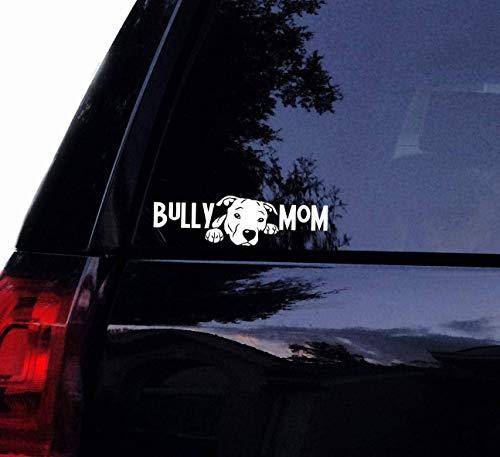 Decal-Sticker Pitbull Bully Mom Pitty Decal - 2018 Design -Floppy Ear Pit Bull American Pitbull Bull Dog Vinyl Car Decal, Laptop Decal Sticker Wall Art