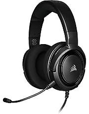Corsair CA-9011195-EU HS35 Stereo Spelheadset (50 mm Neodymhögtalare, Avtagbar enkelriktad Mikrofon, lätt design, för PC, Xbox One, PS4, Nintendo Switch och Mobila Enheter), Svart