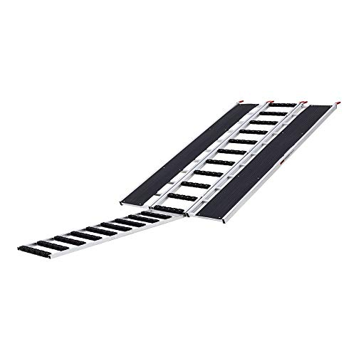 Black Ice SNO-9454-HDXW-EXT-S 7' 10' x 54' Tri-Fold Snowmobile Ramp, Extension, Stud Protectors