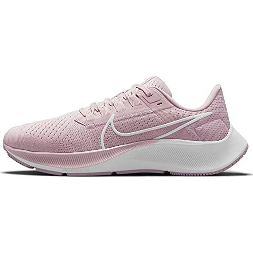 Nike Wmns Air Zoom Pegasus 38, Zapatillas para Correr Mujer, Champán White Barely Rose Arctic Pink, 36 EU