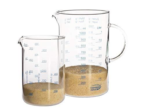 Trendglas Jena Meßbecher Set (1 / 0,5 Liter)