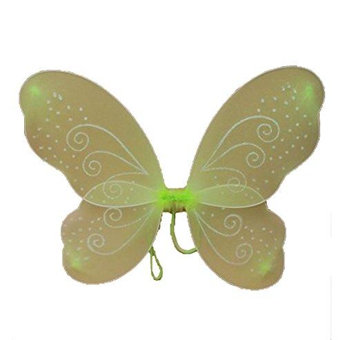 Islander Fashions Fairy Butterfly Net Ailes avec des Paillettes tourbillonne Womens St Patricks Day Accessoire One Size