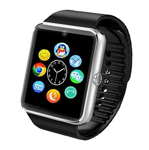 Intelligente Bluetooth Digital Outdoor Orologio Sportivo elettronico Bracciale Multifunzione contapassi Pedometro Calorie Monitoraggio del Sonno per Uomini Donne Ragazzi Ragazzi Junior Argento imper