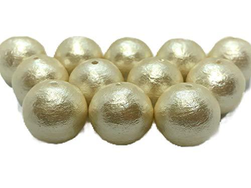 花音(かのん) コットンパール 片穴 日本製 キスカ 6ミリ 10個入 正規品 (キスカ, 6ミリ 10個)