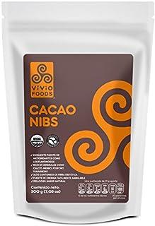 Vivio Foods, Cacao Nibs Orgánicos, 200 gramos