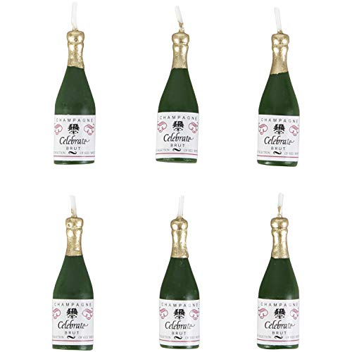 Wilton Candles and Cake Decorations, 2 -Inch, Champagne Bottles, 6-Pack