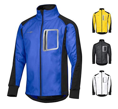 Cyclehero - Chaqueta de ciclismo para hombre (diferentes tamaños y colores) impermeable Softshell para hombre para montar en bicicleta y correr con grandes reflectores