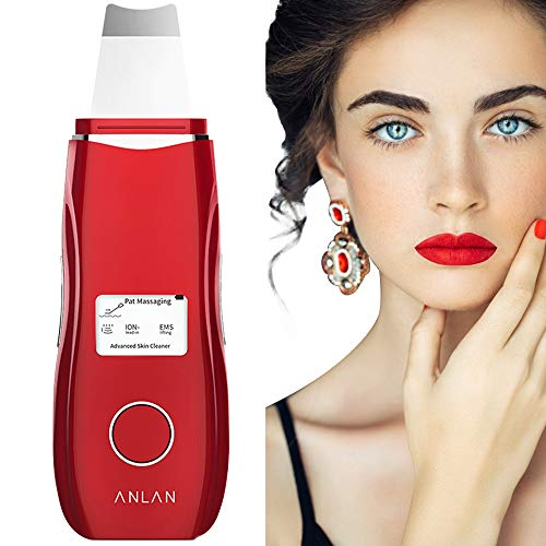 ANLAN Peeling Ultrasónico Facial con 5 Modos, LCD Pantalla, USB Recargable, Equipo de Belleza Facial Multifuncional para Limpieza Facial y Cuidado Facial