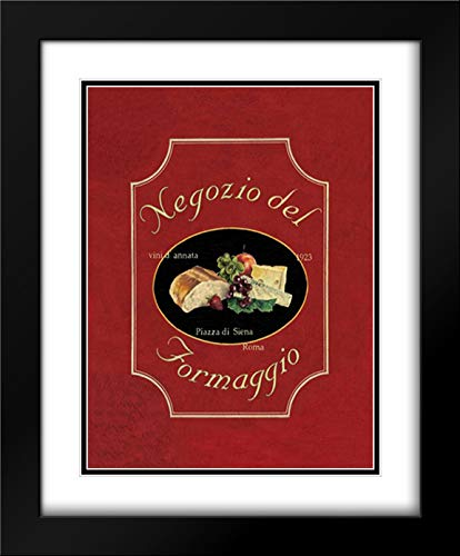 Jones, Catherine 28x33 Black Modern Frame and Double Matted Museum Art Print Titled Negozio del Formaggio