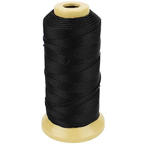Twisted Nylon Linie Schnur String Cord für Gartenarbeit Marking DIY Projects Crafting Mauerwerk (Schwarz, 1mm-656 feet)