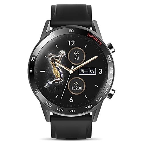 NONGLAN Smart Watch Hombres Mujeres Pantalla Táctil Completa Ip67 Reloj Impermeable Deportes para Hombre Pulsera De Fitness para Android iOS Smartwatch(Color:Negro)