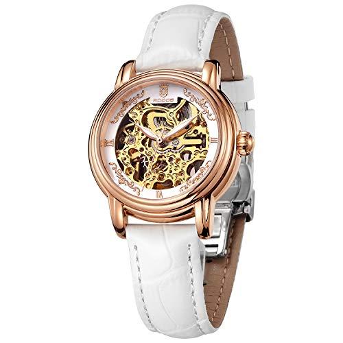 Relojes de Pulsera para Mujer Reloj Automático Reloj Mecánico Reloj Analógico Esqueleto