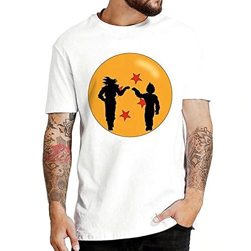 Impreso Moda T-Shirt,Siete Camiseta de la Bola del dragón Super Saiyan T-Shirt de Manga Corta de anime-82213_3XLARGE