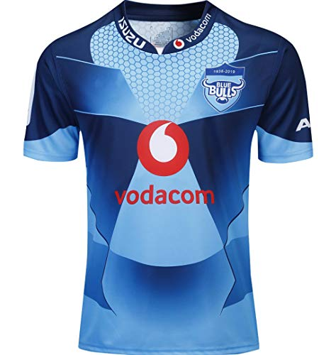 CRBsports Blue Bulls, Rugby-Trikot, Home Edition,Neue Stoff Bestickt, Swag Sportswear (Blau, S)