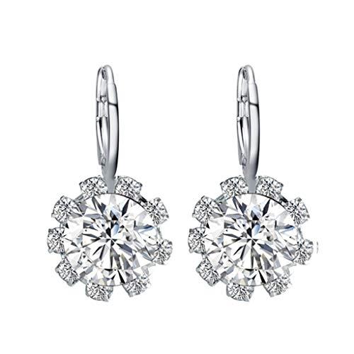 Fenverk Damen Ohrstecker Ohrringe Basic Silber, Ohrringe,happiness boutique,ohrringe stecker,oringe für damen,Geschenk für Freundin(A klar)