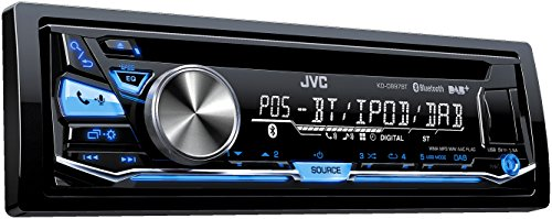 JVC KD-DB97BT 200W Bluetooth Negro receptor multimedia para coche - Radio para coche (Blanco, A2DP,AVRCP,HFP,PBAP, Negro, 200 W, 182 x 158 x 53 mm, 1,1 kg)