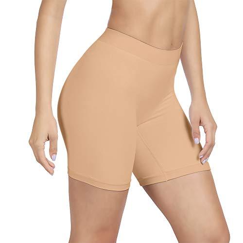 SIHOHAN Damen Unterhosen, 1er 3er Pack Lange Frauen Panties, hohe Taille und Bequem(1 x Beige,M)