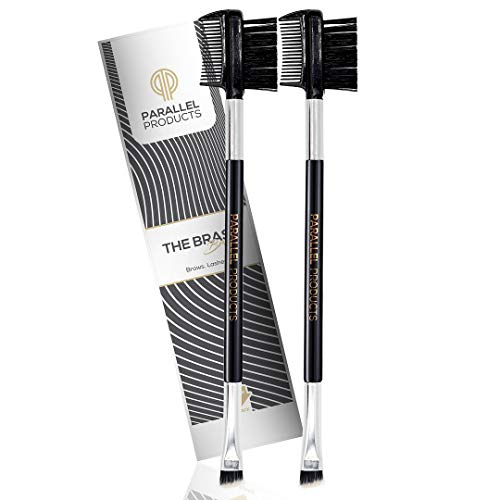 Parallel Products - The BRASH Brush (2 Pack) Professional Tool - Angled Eyebrow Brush and Premium Brow/Lash Comb