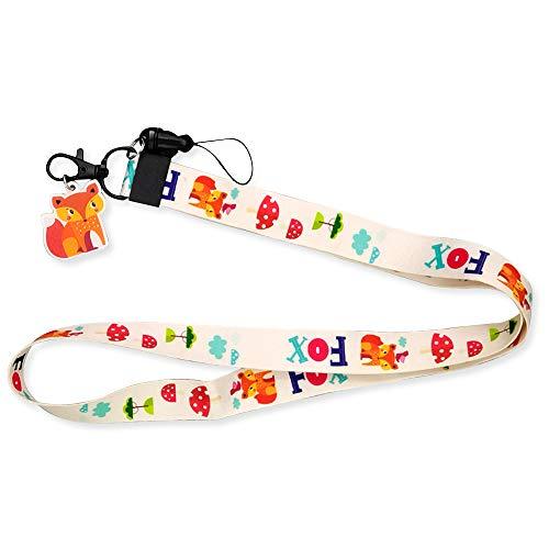 Funny Fox Lanyards for Keys Cute Lanyards for id Badges Cool Kids Lanyard for Keys Neck Lanyard Key Chain Holder