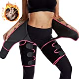 4 in 1 Elastic Band Arm and Thigh Waist Trainer for Women,High Waist Butt Lifter Trimmer Plus Size Pink