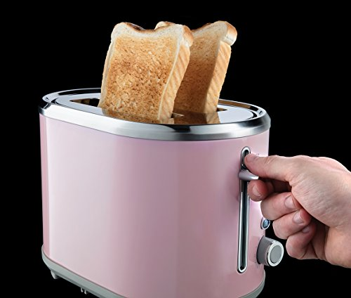 Russell Hobbs 25081-56 Toaster Grille Pain Bubble, Fentes XL, Cuisson Ajustable - Rose