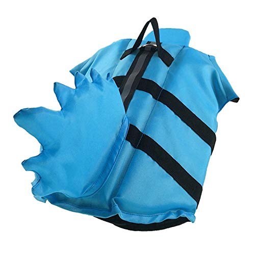 ZYLX Dragon Tail Dog Life Jacket Safety Clothing Pet Life Vest Summer Dog Swimming Clothes French Bulldog Fin Jacket-M_Blue
