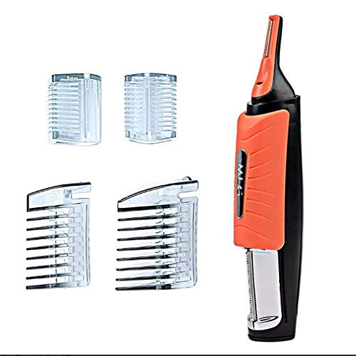 Tondeuse Tactile Rasierer Mann 2 en 1 Double Fin Tondeuse Toilettage Entferner Anti-Rutsch-Griff Mit LED-Licht, Orange