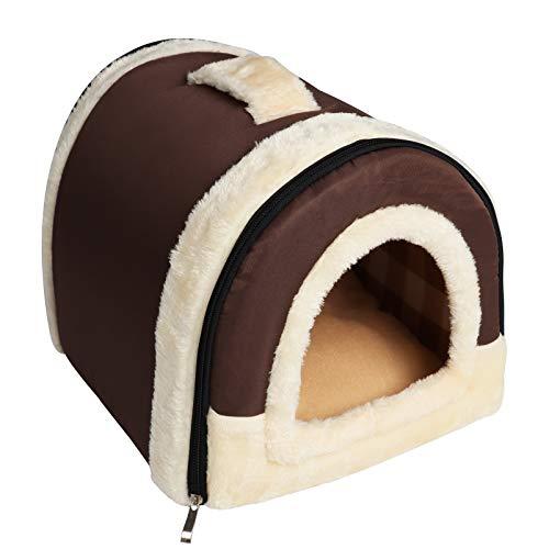 YouthUnion Cama para Mascota, Casa Estera Casera Diseño de Triángulo Edredón Máquina Saco de Dormir Caliente Lavable Cómoda para Gatito Gatos Perros Cachorro Conejo Invierno (L, Color 1)