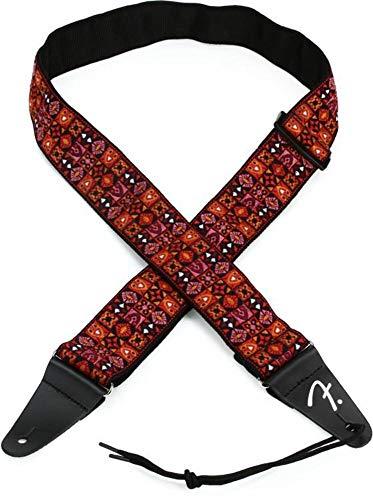 Fender® Festival - Tracolla per chitarra - Tessuto d'ispirazione vintage - Mosaico rosso