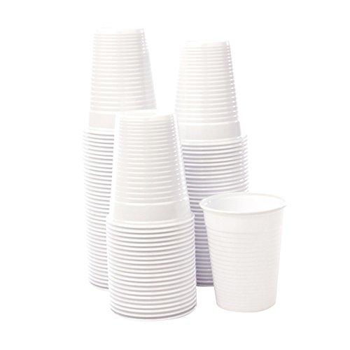 Bicchieri monouso plastica bianchi 200cc acqua bibite usa e getta 15X100 pz