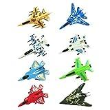TOYANDONA 8Psc Avión Conjunto de Juguetes de Colores Variados Cool Jet Fighter Tirar Aviones para Niños Modelo de Avión de Combate Conjuntos de Aviones de Temática Militar