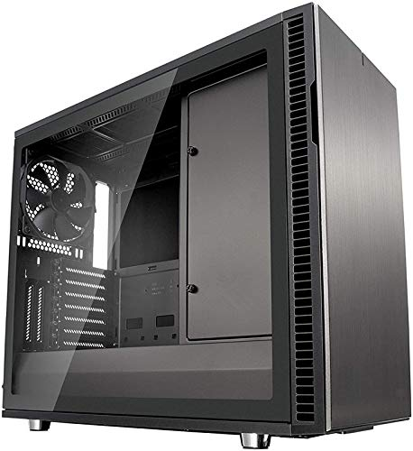 ATX Mid Tower Computer ZY-08 PC Computer Case with Tempered Glass, Pre-Installed RGB Fan with 10 Backlit Modes and LED Light Strip, 240mm AIO and 327mm VGA Support, Bottom Mount PSU