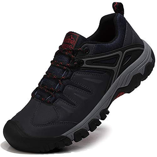 ASTERO Zapatillas Senderismo Hombre Zapatos Trekking Antideslizantes Bajos Botas de Montaña AL Aire Libre Transpirable Sneakers Tamaño 41-46(Azul, Numeric_43