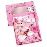 Ixkbiced 18Pcs / Set Baby Girls Boutique Accesorios para el Cabello Bowknot Clip Tie Tocado Regalo