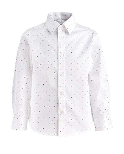 GULLIVER Jungen Hemd Kinder Shirt Weiss Gepunktet Baumwolle Casual 10 Jahre