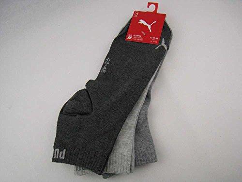 puma UNISEX Quarter Plain Socken grau, Puma-Stutzen-Größen:39-42