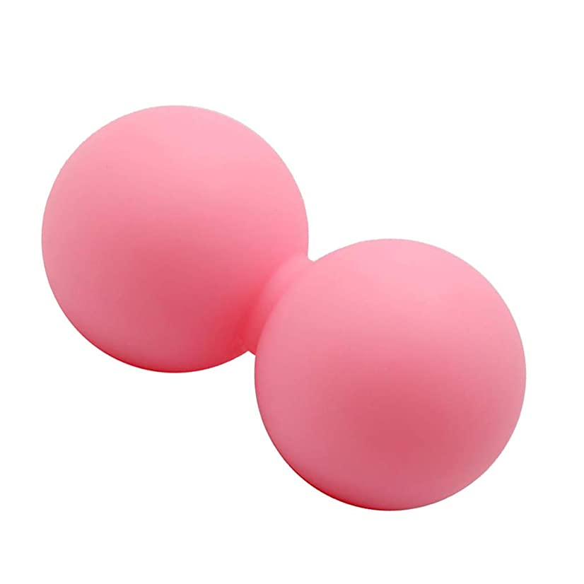 聞きますマウスピースBaoblaze マッサージ ヨガボール ピーナッツ形 痛み緩和 ピンク