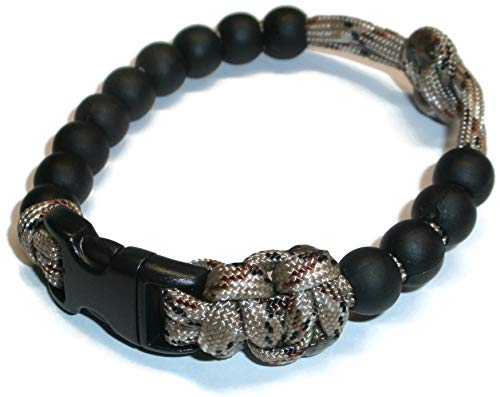 RedVex Ranger Pace Counter Bead Bracelet Desert Camo- Choose Your Size - Customization Available (9 inch)