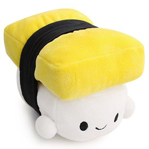 Carina Giapponese Sushi Cuscino Cuscini del Sonno Cuscino di Supporto del Braccio Decorazione Cuscino Peluche Bambola Regalo per Bambini (Yellow)
